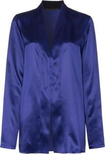 Haider Ackermann Blusa De Cetim - Azul