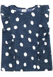 Blusa De Poã¡- Azul Marinho & Brancahering