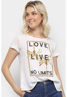 Camiseta Acostamento Love Live No Limits Feminina - Feminino