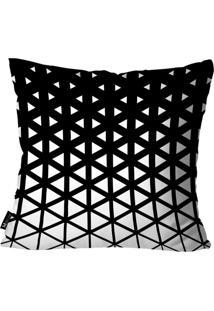 Capa Para Almofada Mdecore Geométrica Preto 55X55
