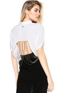 Camisa Cropped Triton Metal Branca