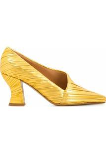 Bottega Veneta Scarpin Metalizado - Dourado