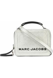 Marc Jacobs Bolsa Tiracolo Box Metálica - Prateado