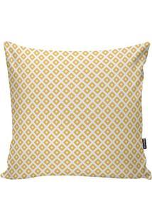 Capa De Almofada Geométrica- Branca & Amarela- 45X45Stm Home