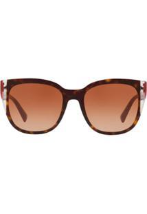 Valentino Eyewear Óculos De Sol Rockstud - Marrom