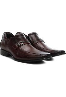 Sapato Social Couro Rafarillo - Masculino-Marrom Escuro