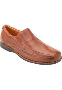Sapato Casual Couro Sandro & Co Masculino - Masculino-Marrom Claro
