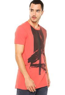 Camiseta Calvin Klein Jeans Tinturado Vermelha