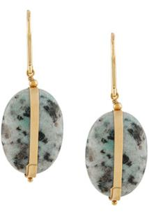 Isabel Marant Stone-Embellished Hook Earrings - Azul