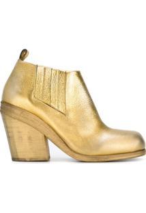 Marsèll Ankle Boot De Couro - Metálico