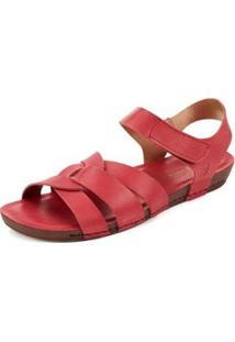 Sandália Sidewalk Velcro Goa Feminina - Feminino-Vermelho