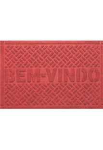 Capacho Bem Vindo 39X59Cm - Kapazi - Vermelho