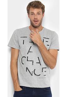 Camiseta Manga Curta Sommer Estampada Take A Chance Masculina - Masculino-Mescla