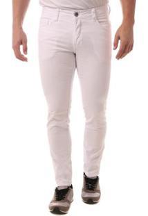 Calça Jeans Osmoze Skinny Masculina - Masculino-Branco