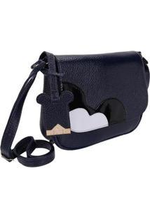 Bolsa Pequena Transversal Selten Feminina - Feminino-Azul Escuro