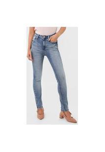 Calça Jeans Dudalina Skinny Estonada Azul