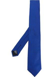 Emporio Armani Gravata De Seda Jacquard - Azul