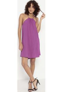 Vestido Liso- Roxo- Colccicolcci
