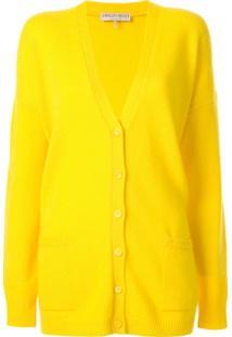 Emilio Pucci Cardigan Oversized De Cashmere - Amarelo