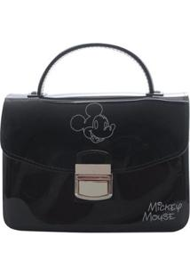 Bolsa Pequena Mickey Mouse Feminina - Feminino-Preto