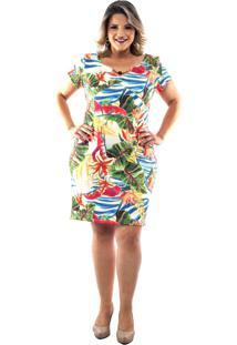 Vestido Saint Yves Estampado Predilects Preto - Preto/Vermelho - Feminino - Dafiti