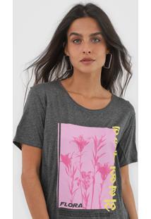 Camiseta Forum Flora Grafite