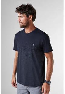 Camiseta Pois Degrade Reserva Masculina - Masculino-Preto