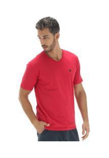Camiseta Timberland Dunstan River V Neck Tee - Masculina - Vermelho