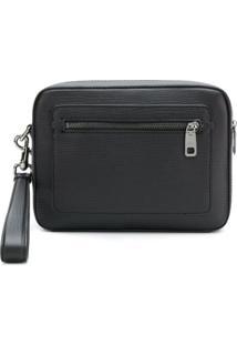 Dolce & Gabbana Bolsa Clutch De Couro Com Logo - Preto