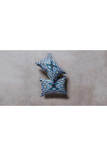 Capa De Almofada Liz Cor: Azul - Tamanho: Único