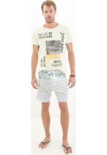 Bermuda John John D'Água Wallpaper Listrado Masculina (Listrado, 44)