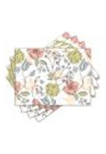 Jogo Americano - Flores Com 4 Peças - 513Jo