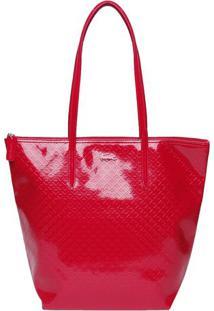 Bolsa Texturizada Com Tag - Pink - 35X42X16Cmlacoste