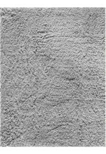Tapete Silky Liso Retangular Poliéster (100X150) Prata