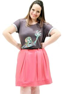 Camiseta Vickttoria Vick Garota Zumbi Plus Size