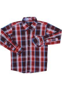 Camisa Rodeo Western Vermelho Escuro