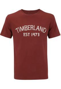 Camiseta Timberland Ss Tape Stone - Masculina - Vinho