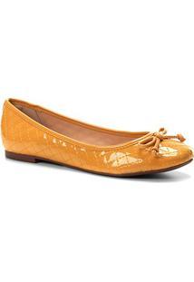 Sapatilha Shoestock Matelassê Feminina - Feminino-Mostarda