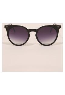 Óculos De Sol Feminino Redondo Yessica Preto