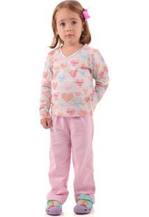 Pijama Longo Com Repelente - Feminino-Rosa