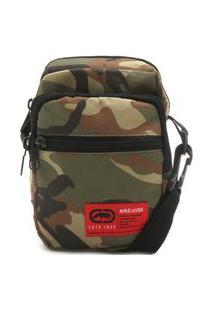 Bolsa Ecko Shoulder Bag Camuflada Verde/Marrom