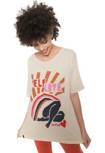 Camiseta Cantão Self Love Bege