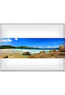 Jogo Americano Decorativo, Criativo E Descolado   Panorâmica De Praia - Tamanho 30 X 40 Cm