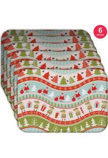 Jogo Americano Love Decor Wevans Happy Noel Kit Com 6 Pçs