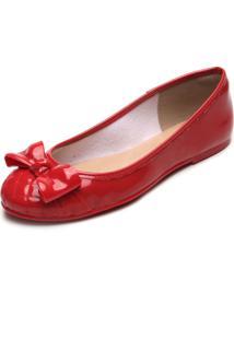 Sapatilha Petite Jolie Laço Vermelha