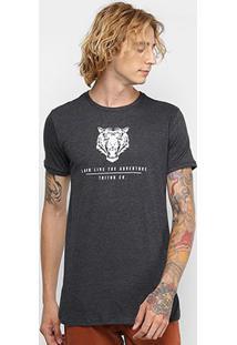 Camiseta Triton Estampada Masculina - Masculino-Chumbo