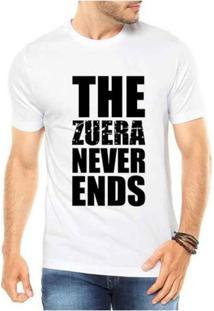 Camiseta Criativa Urbana Zueira Never Ends - Masculino