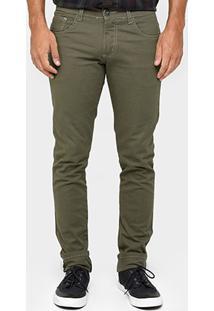 Calça Skinny Preston Color Masculina - Masculino-Verde Militar