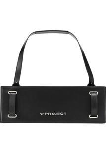 Y/Project Bolsa Sanfonada De Couro - Preto