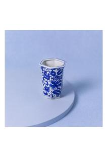 Vaso Henan Cor: Azul - Tamanho: Único